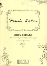 Chefs-D'oeuvre Francis Poulenc Partition Piano - laflutedepan.com