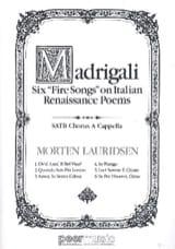 Madrigali Morten Lauridsen Partition Chœur - laflutedepan.com