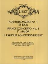 Concerto N°1 En Mi Bémol Majeur Franz Liszt Partition laflutedepan.com