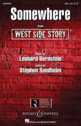 Somewhere. West side Story. SSA Leonard Bernstein laflutedepan.com
