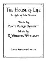 The House Of Life WILLIAMS VAUGHAN Partition Mélodies - laflutedepan