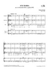 Zoltan Kodaly - Ave Maria - Partition - di-arezzo.fr