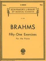51 Exercices Johannes Brahms Partition Piano - laflutedepan.com