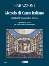 Maurizia Barazzoni - Metodo Di Canto Italiano - Partition - di-arezzo.fr