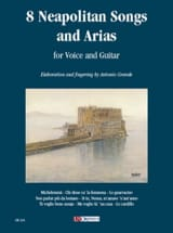 8 Neapolitan Songs And Arias Partition Guitare - laflutedepan.com