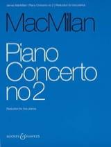Piano Concerto N° 2 James Macmillan Partition Piano - laflutedepan