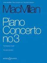 Concerto pour piano n° 3 James Macmillan Partition laflutedepan