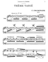 Thème Varié Opus 89 Cécile Chaminade Partition Piano - laflutedepan