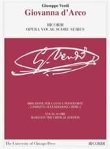 Giuseppe Verdi - Giovanna D'Arco. Edición Crítica - Partitura - di-arezzo.es
