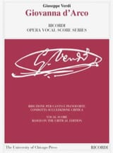 Giuseppe Verdi - Giovanna D'Arco. Critical Edition - Sheet Music - di-arezzo.com
