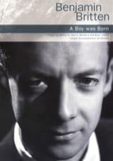 A boy was born Op. 3 - Benjamin Britten - Partition - laflutedepan.com