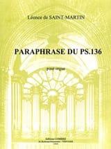Léonce de Saint-Martin - Paraphrase du psaume 136 - Partition - di-arezzo.fr