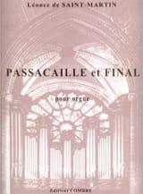 Léonce de Saint-Martin - Passacaille et Final Op. 28 - Partition - di-arezzo.fr