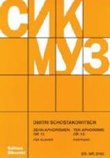 10 Aphorismes op. 13 - Dimitri Chostakovitch - laflutedepan.com