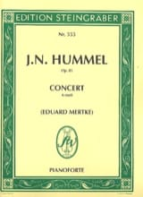 Johann Nepomuk Hummel - Concerto en la mineur Op. 85 - Partition - di-arezzo.fr