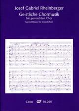 Geistliche Chormusik Josef Gabriel Rheinberger laflutedepan.com