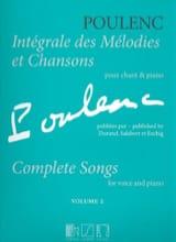 Francis Poulenc - Intégrale des mélodies et chansons. Volume 2 - Partition - di-arezzo.fr