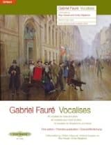 Vocalises. Gabriel Fauré Livre Mélodies - laflutedepan.com