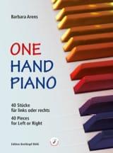 One hand piano Barbara Arens Partition Piano - laflutedepan.com