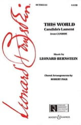 Leonard Bernstein - This world. Candide - Partition - di-arezzo.fr