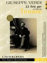 VERDI - 22 Arie pour Ténor - Partition - di-arezzo.fr