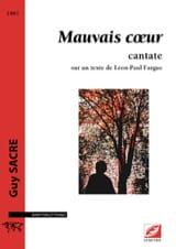 Mauvais coeur Guy Sacre Partition Mélodies - laflutedepan.com