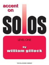 Accent on solos Volume 1 William Gillock Partition laflutedepan