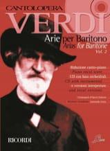 Giuseppe Verdi - Arie per baritono. Volume 2 - Partition - di-arezzo.fr