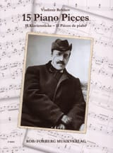 15 pièces pour piano Vladimir Rebikov Partition laflutedepan.com
