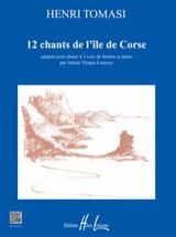 Henri Tomasi - 12 chants de l'île de Corse - Partition - di-arezzo.fr