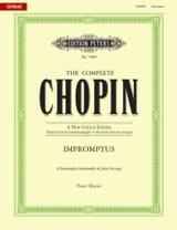 Impromptus. Nouvelle Edition CHOPIN Partition Piano - laflutedepan.com