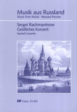 Geistliches Konzert RACHMANINOV Partition Chœur - laflutedepan.com