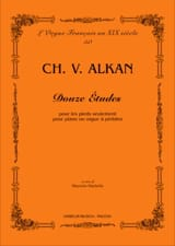12 études - Charles Henri Valentin Aîné Alkan - laflutedepan.com