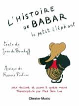 Histoire de Babar. 4 mains Francis Poulenc Partition laflutedepan.com