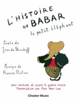 Francis Poulenc - Babar's story. 4 hands - Sheet Music - di-arezzo.com