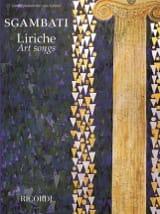 Liriche. Art songs Giovanni Sgambati Partition laflutedepan.com