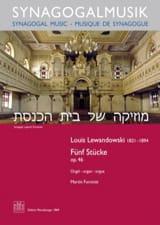 Louis Lewandowski - 5 Stücke op. 46 - Partition - di-arezzo.fr