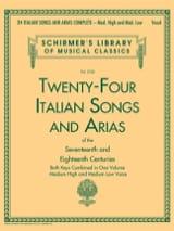 24 italian Songs and Arias. Voix haute et moyenne laflutedepan.com