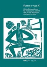 Flauto E Voce. Volume 11 - Partition - laflutedepan.com