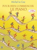 Pour bien commencer le piano Coz Michel Le Partition laflutedepan.com