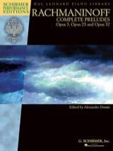 Complete preludes RACHMANINOV Partition Piano - laflutedepan.com