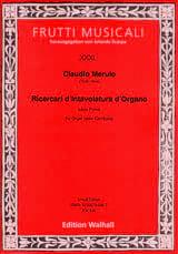 Claudio Merulo - Ricercari of Intavolatura of Organo. Libro Primo - Sheet Music - di-arezzo.com