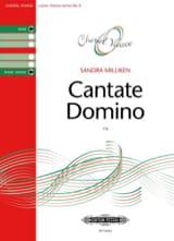 Cantate Domino Sandra Milliken Partition Chœur - laflutedepan.com