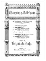 Chansons et madrigaux - Reynaldo Hahn - Partition - laflutedepan.com