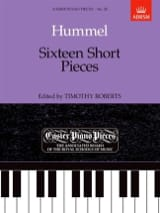 HUMMEL - 16 short pieces - Sheet Music - di-arezzo.co.uk