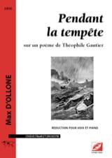 Max d' Ollone - Pendant la tempête - Partition - di-arezzo.fr