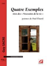 Quatre exemples Guy Sacre Partition Mélodies - laflutedepan.com