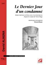 David Alagna - Le dernier jour d'un condamné - Partition - di-arezzo.fr