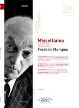 Miscellanea Federico Mompou Partition Piano - laflutedepan.com