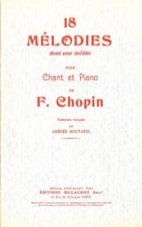 Frédéric Chopin - 18 Mélodies - Partition - di-arezzo.fr